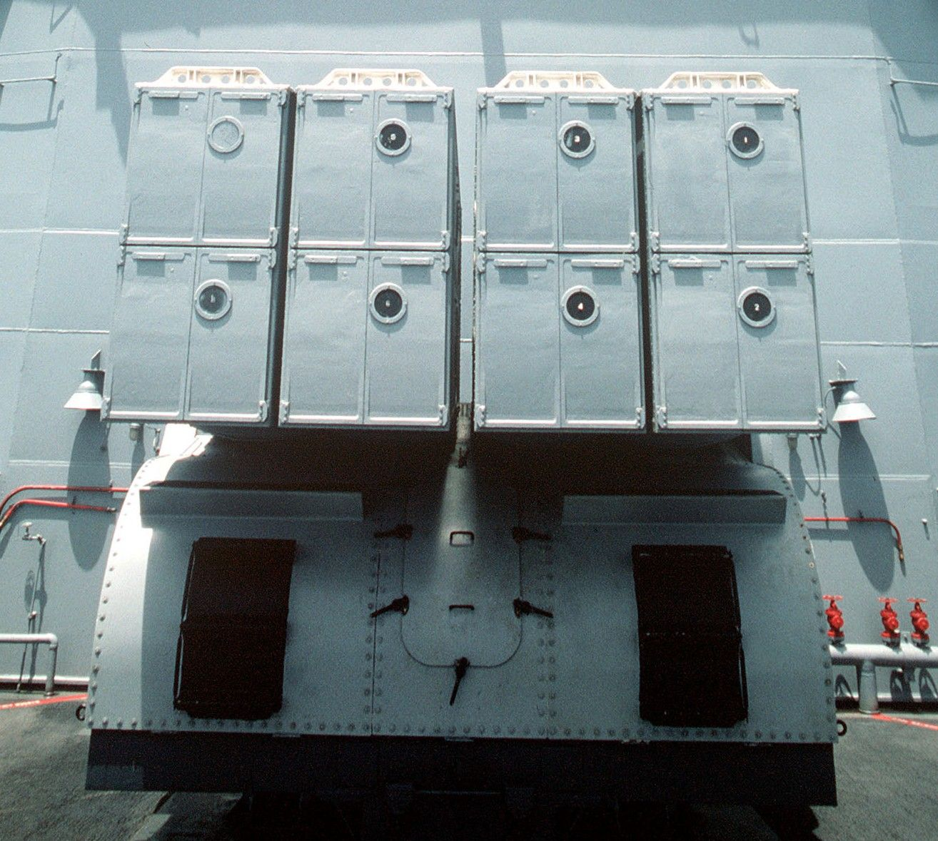 Mk-16 box launcher aboard the Spruance class Destroyer USS Thorn (DD 988)