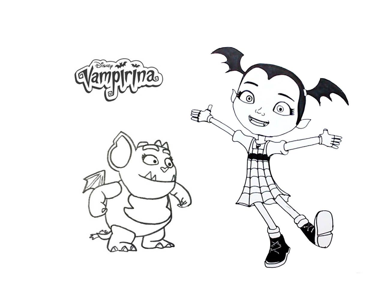 Vampirina Coloring Page 09 Jpg 1 280 1 024 Pixels Dibujos De