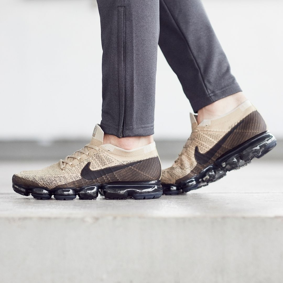 release date: cheapest great prices NIKE AIR VAPORMAX FLYKNIT TAN KHAKI BLACK PUDDING 849558 201 ...