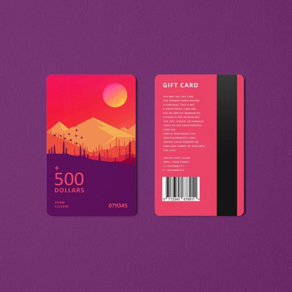 creative gift card designs in 2020  gift card design