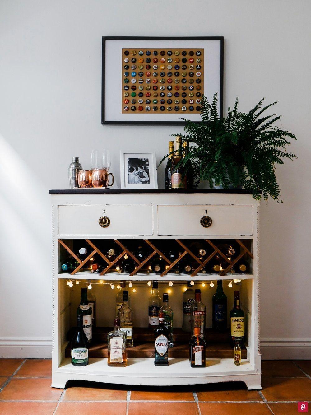 Meuble bar DIY - Hannah Drake | Meuble bar, Bar fait maison, Armoire à vin