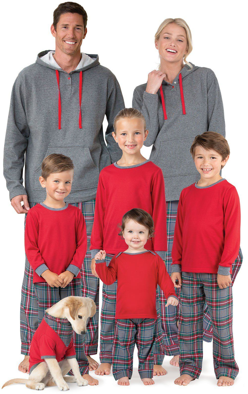 Gray Plaid Matching Family Pajamas Matching family