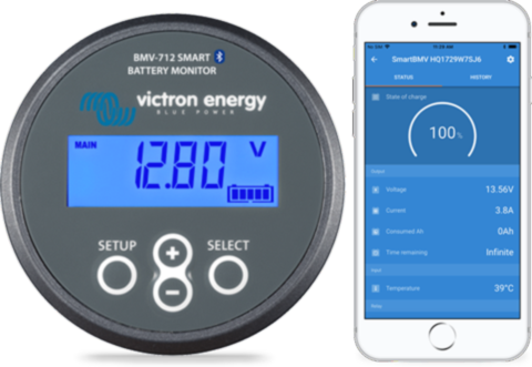 Victron Bmv 712 Smart Battery Monitor With Images Battery Monitor Solar Kit