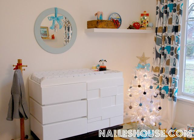 kids room decorations christmas blue and white christmas white