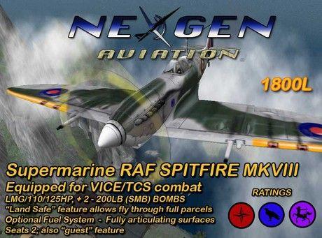 Second Life Marketplace - NEXGEN Spitfire (crate)