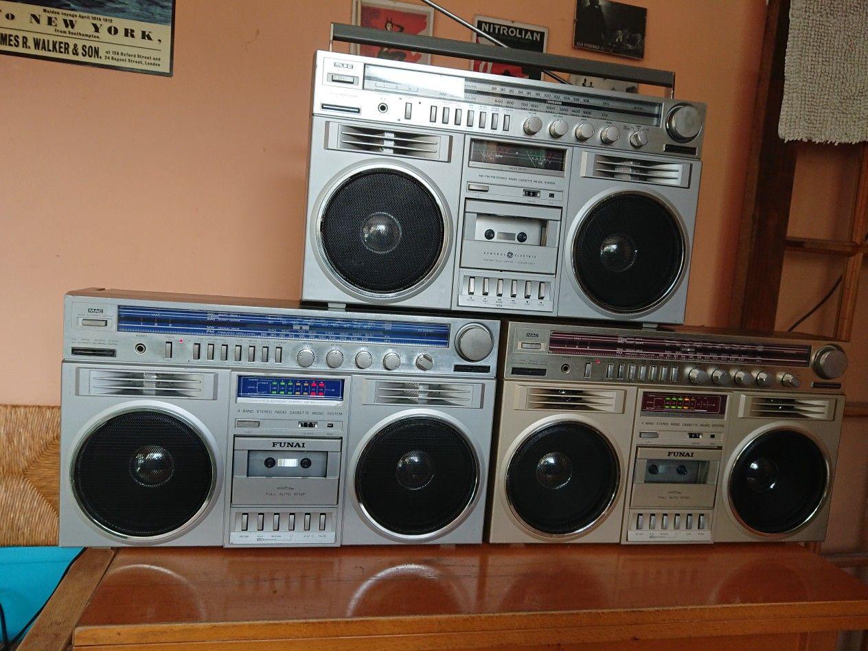 Funai Rcs 300 Rcs 300g And G E 3 5259 Blockbuster Rudeys Boomers Boombox Radio Cassette Radio