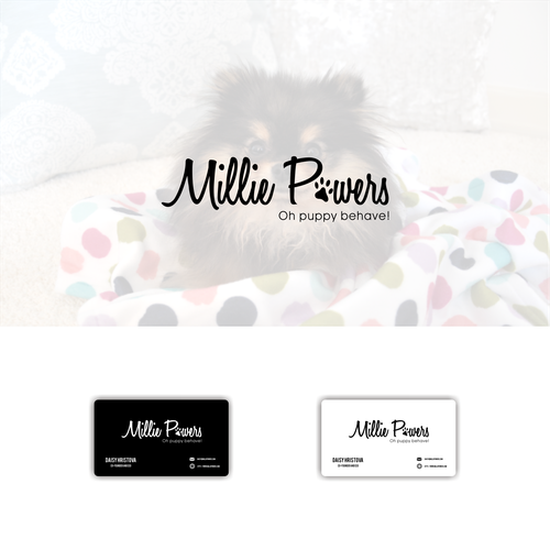 Millie powers create a simple yet premium logo and business card millie powers create a simple yet premium logo and business card for a pet online fashion brand business card pinterest pets online business cards reheart Choice Image