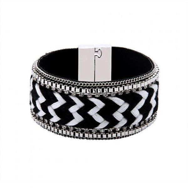 Yoins Yoins Folk Woven Bracelet (54 SEK) ❤ liked on Polyvore featuring jewelry, bracelets, black, punk rock jewelry, kohl jewelry, fake jewelry, woven bracelet and imitation jewelry