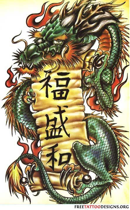 Los tatuajes de dragón japonés