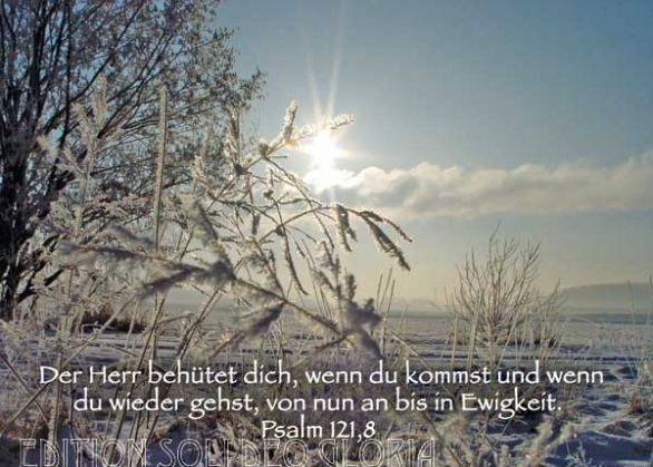 Christliche postkarte 13 psalm 121 winter bibel a la for Weihnachtskarten christlich