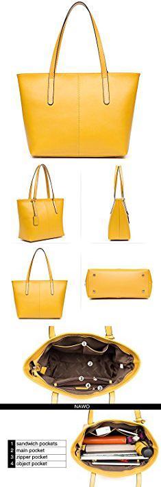 Top 10 Designer Purses. NAWO Women s Leather Designer Handbags Shoulder  Tote Top-handle Bag Clutch Purse Yellow.  top  10  designer  purses  top10  ... fce1b00b1eae6