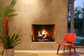 Taupe Color Stucco Venetian Plaster Fireplace In 2019