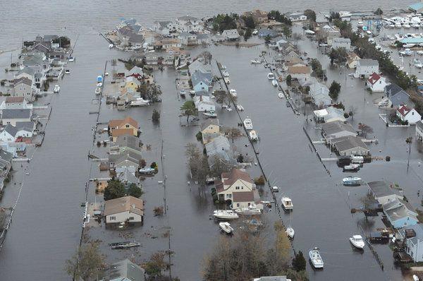 Aerial Views Of Shore Devastation Devastation Aerial View Long Beach Island