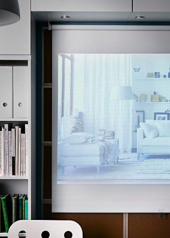 how cool is this create a coloured room and mini projector screen for it investigations tupplur. Black Bedroom Furniture Sets. Home Design Ideas