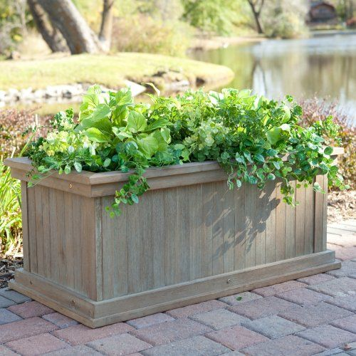 Rustic Garden Planter Box Driftwood Finish Garden Planter Boxes Rustic Gardens Indoor Outdoor Planter