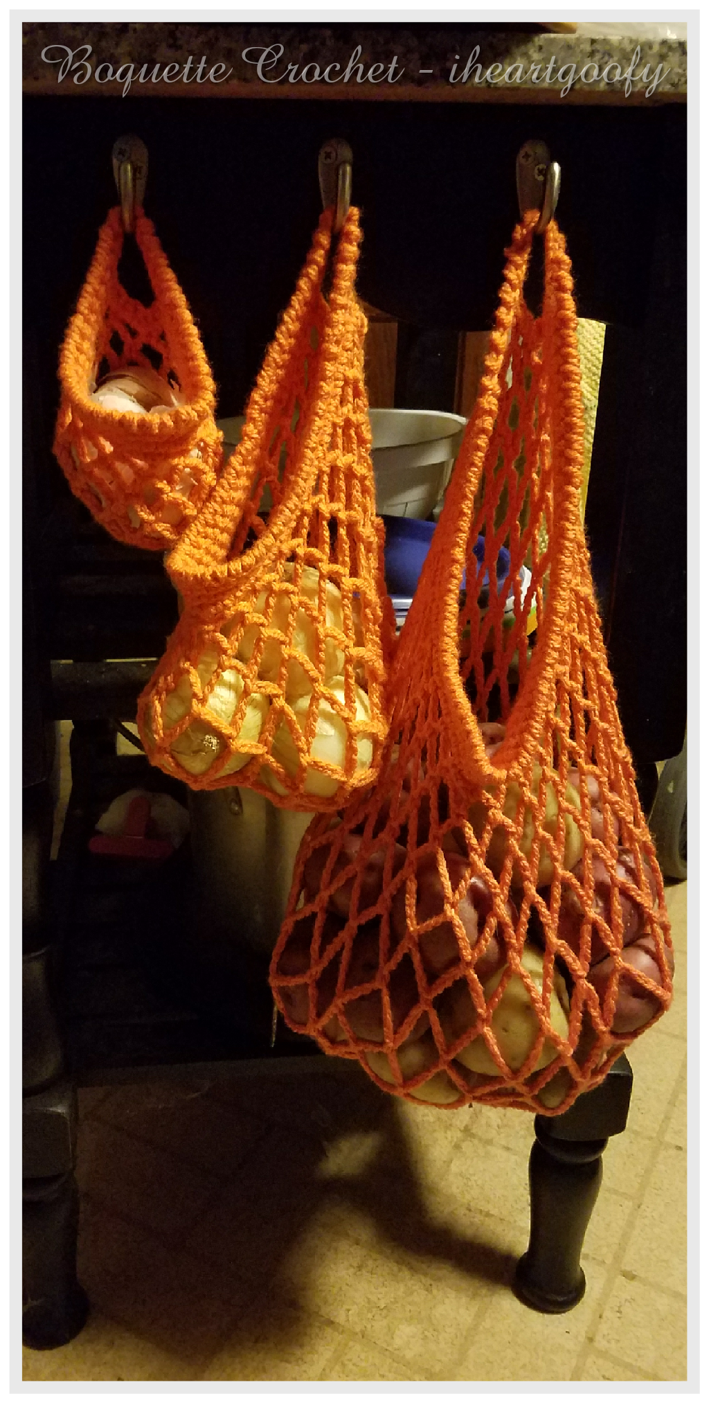Produce/grocery bags free crochet pattern   crochet   Pinterest ...