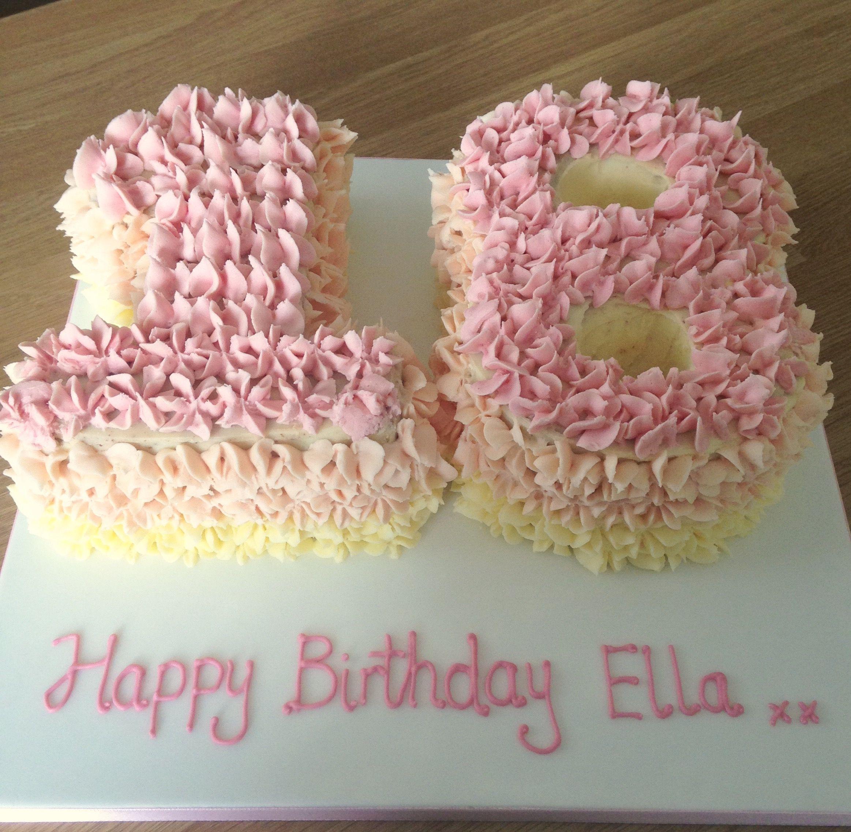 18th birthday cake for girl pink buttercream swirls