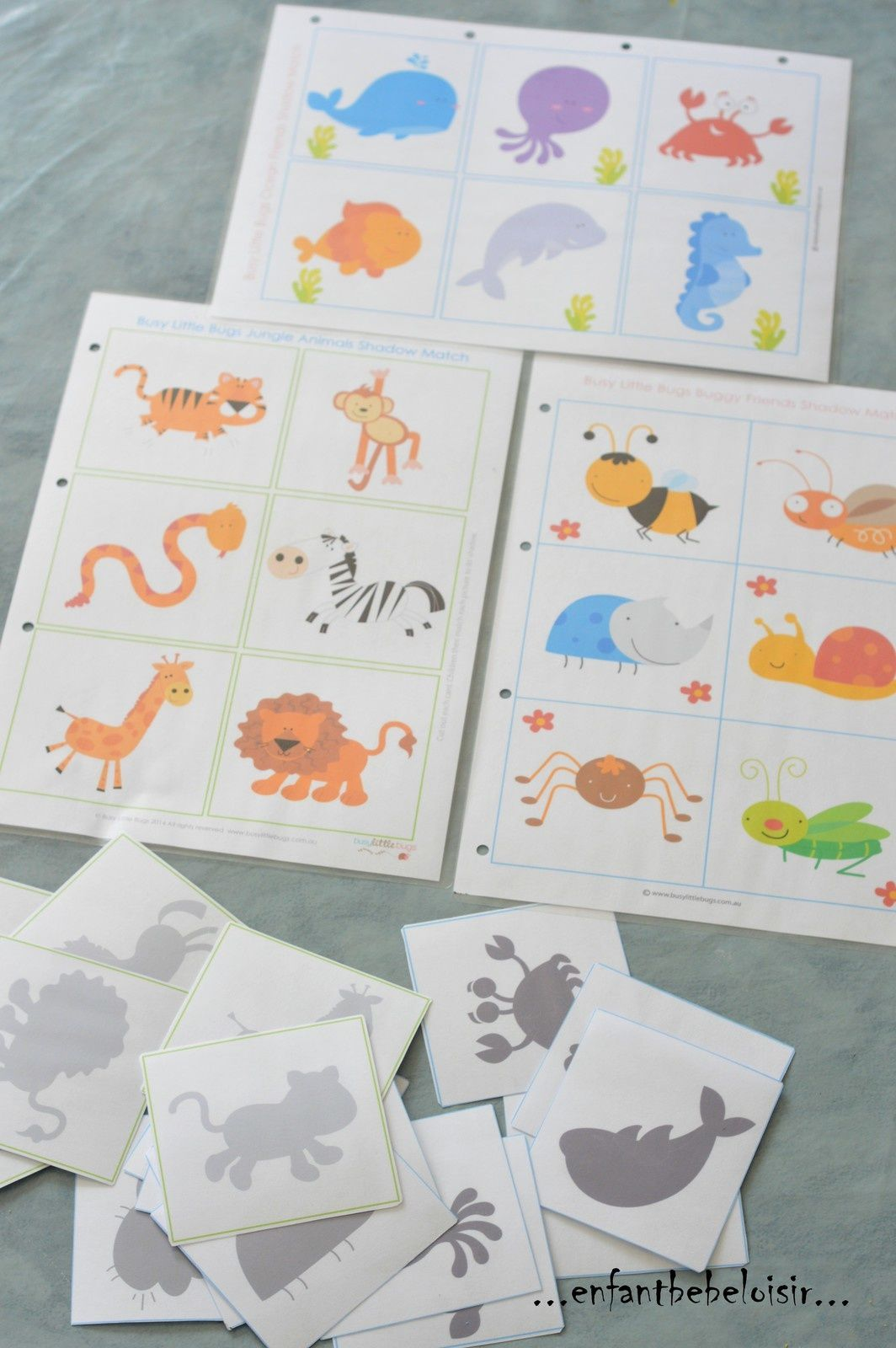 Häufig jeu d ombres à imprimer et plastifier | Éducation, montessori  MZ74