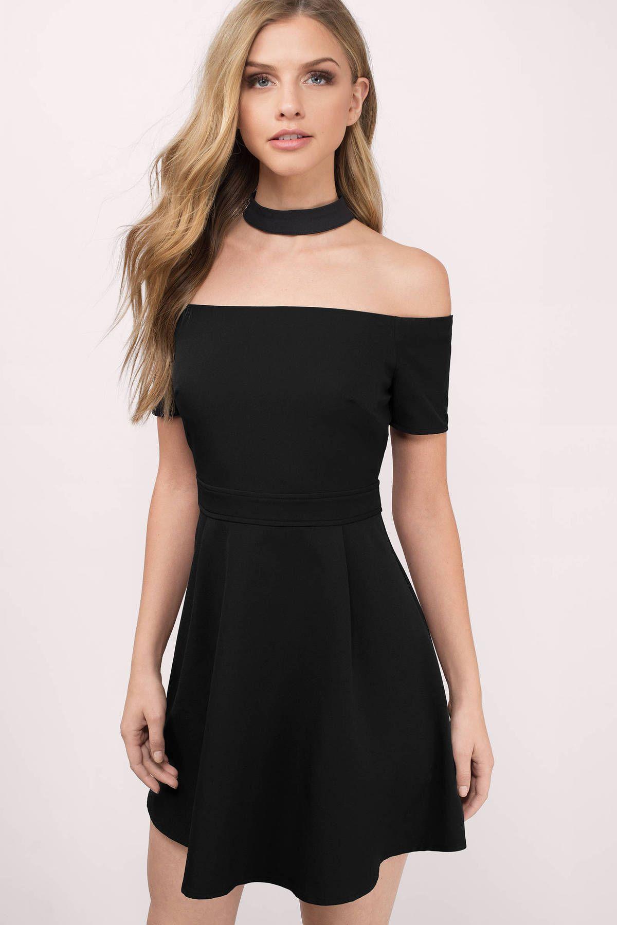 Dark Side Choker Skater Dress in Black  Dresses for teens dance