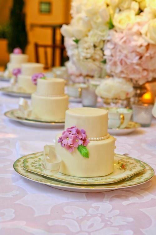 Mini wedding cakes - two tier   some day   Pinterest   Mini wedding ...