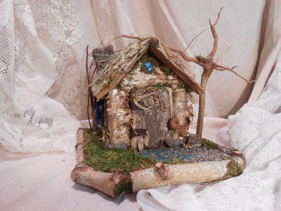 Faerie House Blue by Faeriearthart on Etsy, $65.00