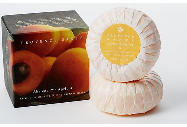 S/2 Gift Soaps, Apricot