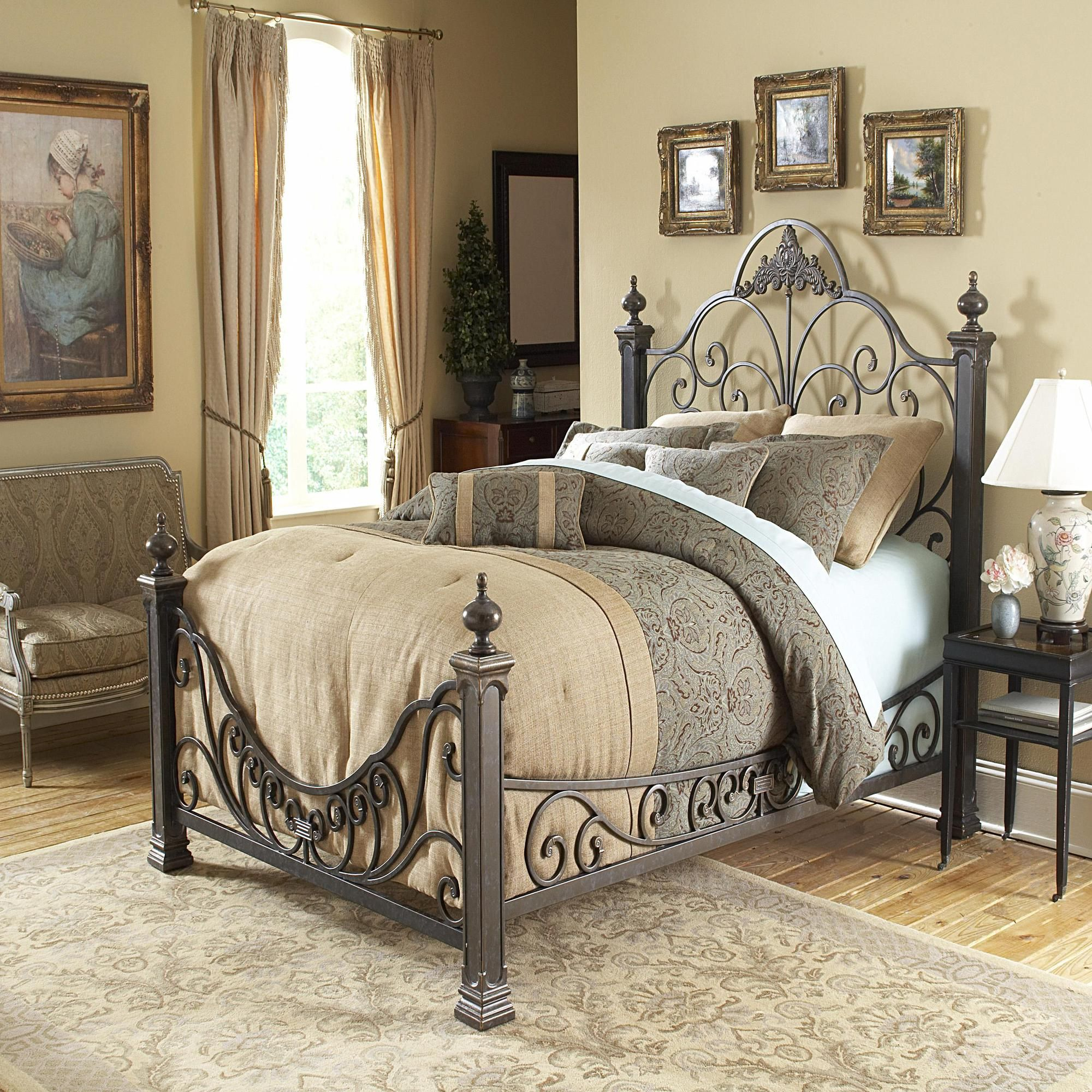 I love these beds! Bed styling, Baroque bed, Iron bed