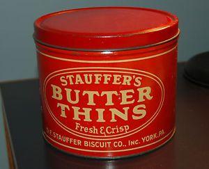 Old Photos Of York Pa Vintage Butter Thin Cracker 16 Oz Tin