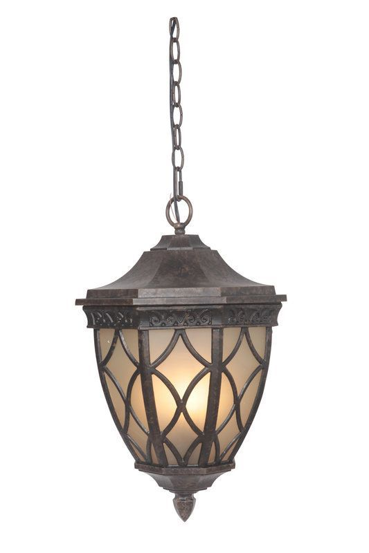 Craftmade Z7221 Evangeline 3 Light Lantern Outdoor Pendant 12 Inches Wide Peruvian Bronze Outdoor Lighting Pendants Outdoor Hanging Lights Tall Floor Vases Porch Lighting