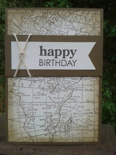 25+ DIY Map and Globe Projects – Card Ideas