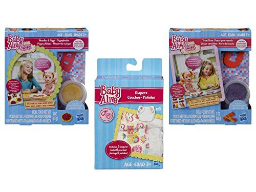 Baby Alive Accessories Bundle Of 3 Items 1 Super Snacks Noodles And Pizza Snack Pack Blonde 1 Super Snacks Baby Alive Baby Alive Doll Clothes Super Snacks