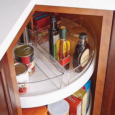 Interdesign Cabinet Binz Lazy Susan Quarter Wedge Storage Bin Kitchen Cabinet Organization Layout Kitchen Organization Diy Kitchen Drawer Organization