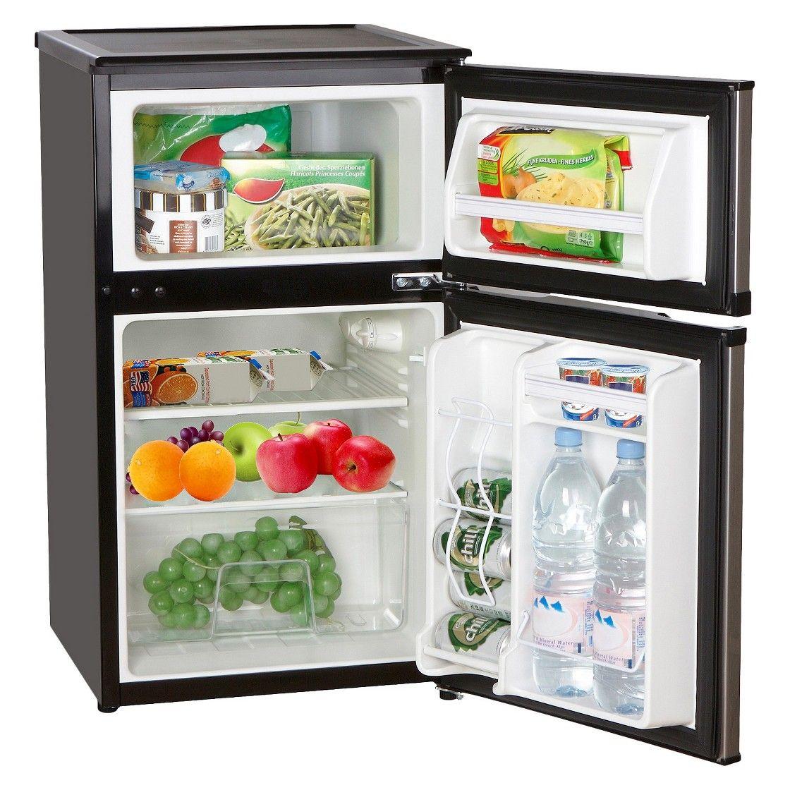 Emerson 3 1 Cu Ft 2 Door Compact Fridge And Freezer Compact Fridge Mini Fridge With Freezer Mini Fridge