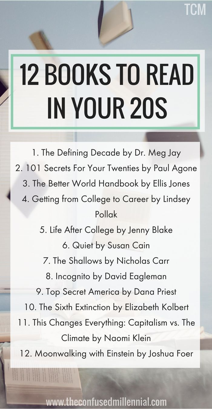 20 Books Everyone Should Read in Their Early 20s   The Confused ...