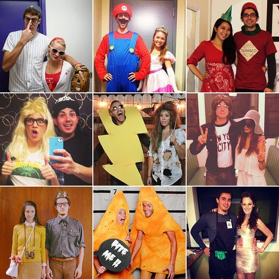 100 Halloween Couples homemade Costume Ideas. Wow! some are so cute u0026 clever. Different ones to suit any taste  sc 1 st  Pinterest & 100 Creative Couples Costume Ideas | Pinterest | Homemade costumes ...