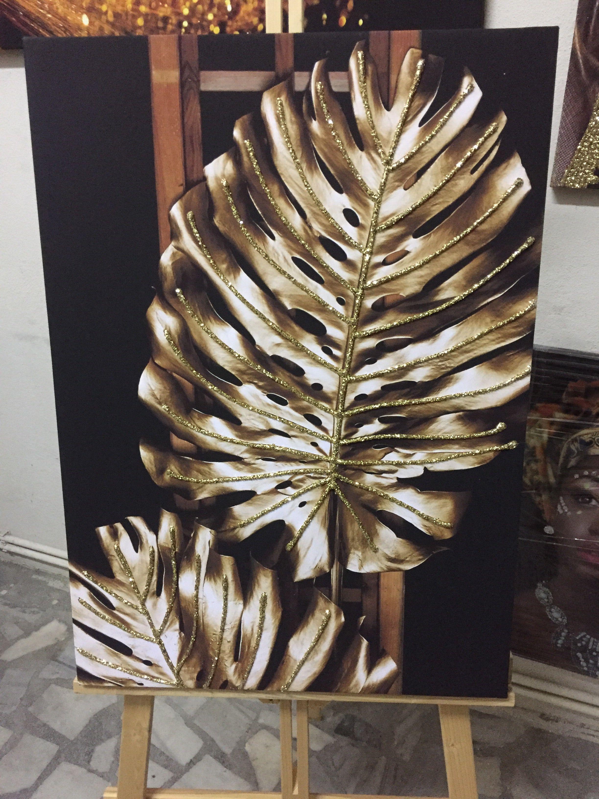 Sim Islemeli Yaprak Model Kanvas Tablo Tablolar Dekor Ic Tasarim