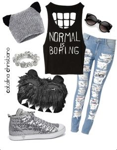 teen girl punk outfits | I love this outfit!! Different shoes ...
