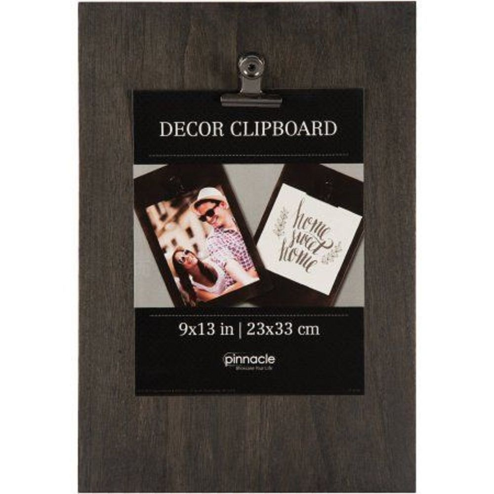 Details About Pinnacle Decor Wall Hanging Clipboard Wood Set 9 X 13 Black Wall Clips Wall Decor Wood And Metal