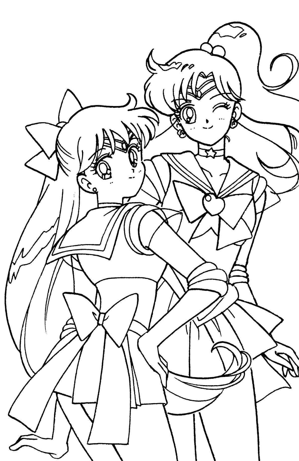 Sailor Venus Et Jupiter Sailor Moon Coloring Pages Sailor Moon Manga Sailor Moon
