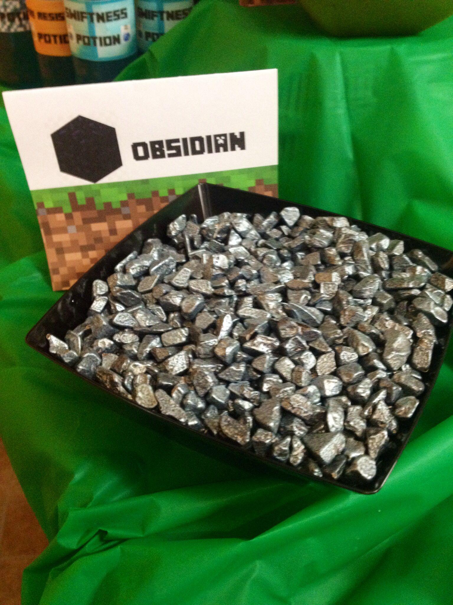 Minecraft Party.. Chocolate rocks | Party Ideas | Pinterest ...