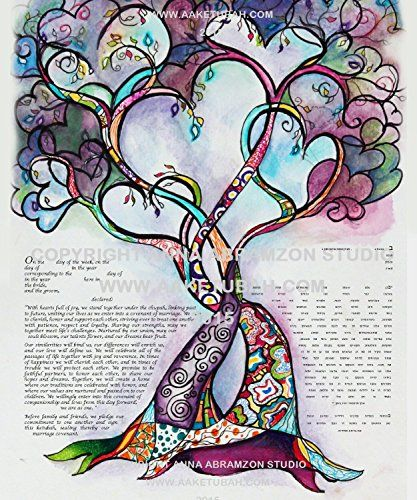Two Hearts into One Ketubah Marriage Contract u003eu003eu003e Continue to the - marriage contract