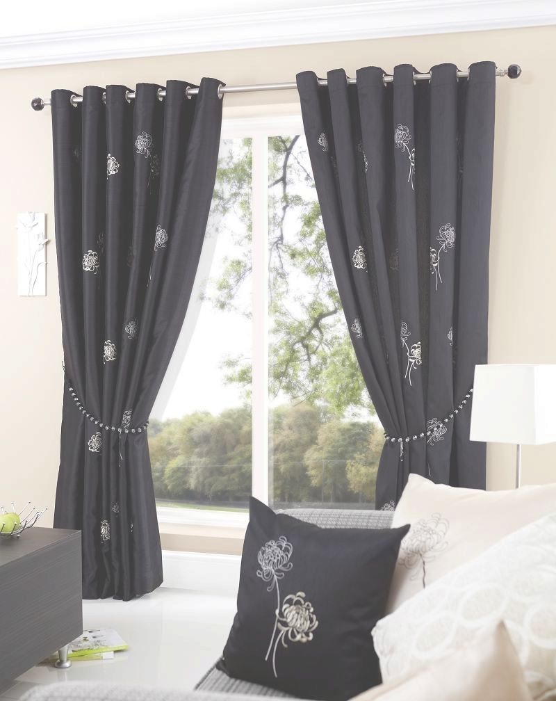Creative Black And White Patterned Curtains Ideas