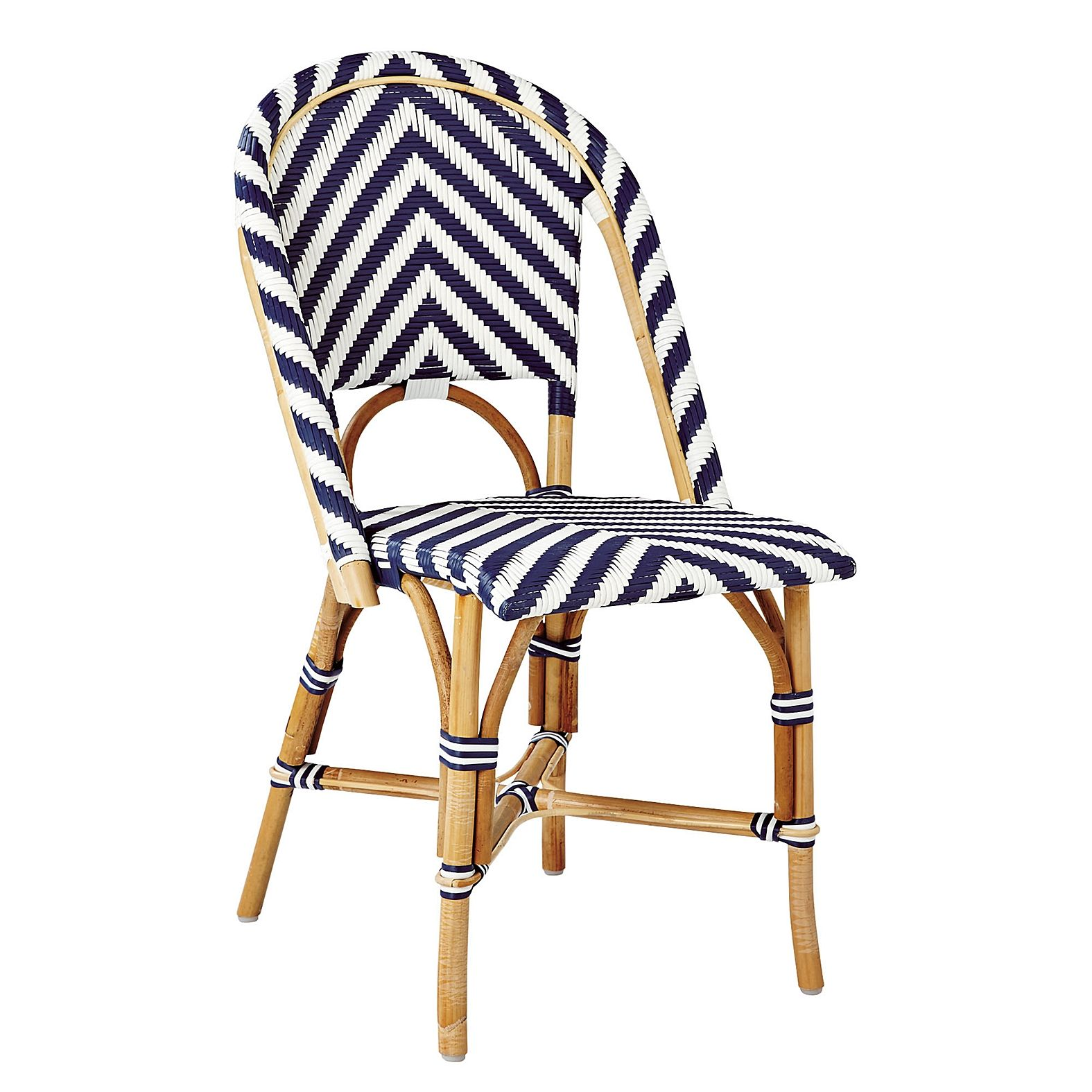 Chevron Riviera Side Chair Navy Serena Amp Lily Bistro