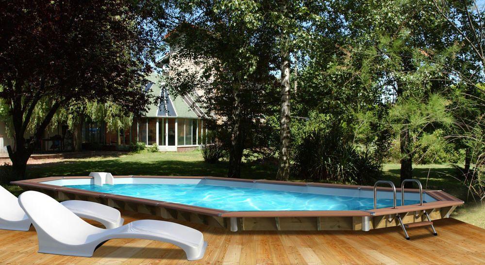 soldes piscine carrefour achat piscine bois premium water clip l 890 - Piscine Bois Solde