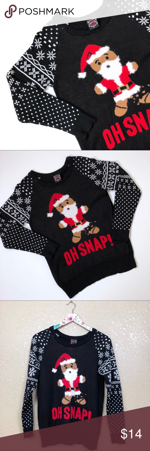 Oh Snap Gingerbread Man Christmas Sweater Oh Snap Gingerbread