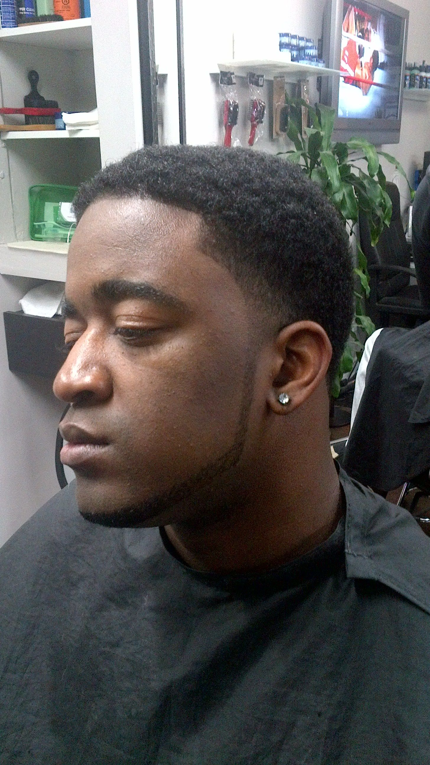 Afro Taper Fade With Beard Lining Summer Cuts Short Natural Hair