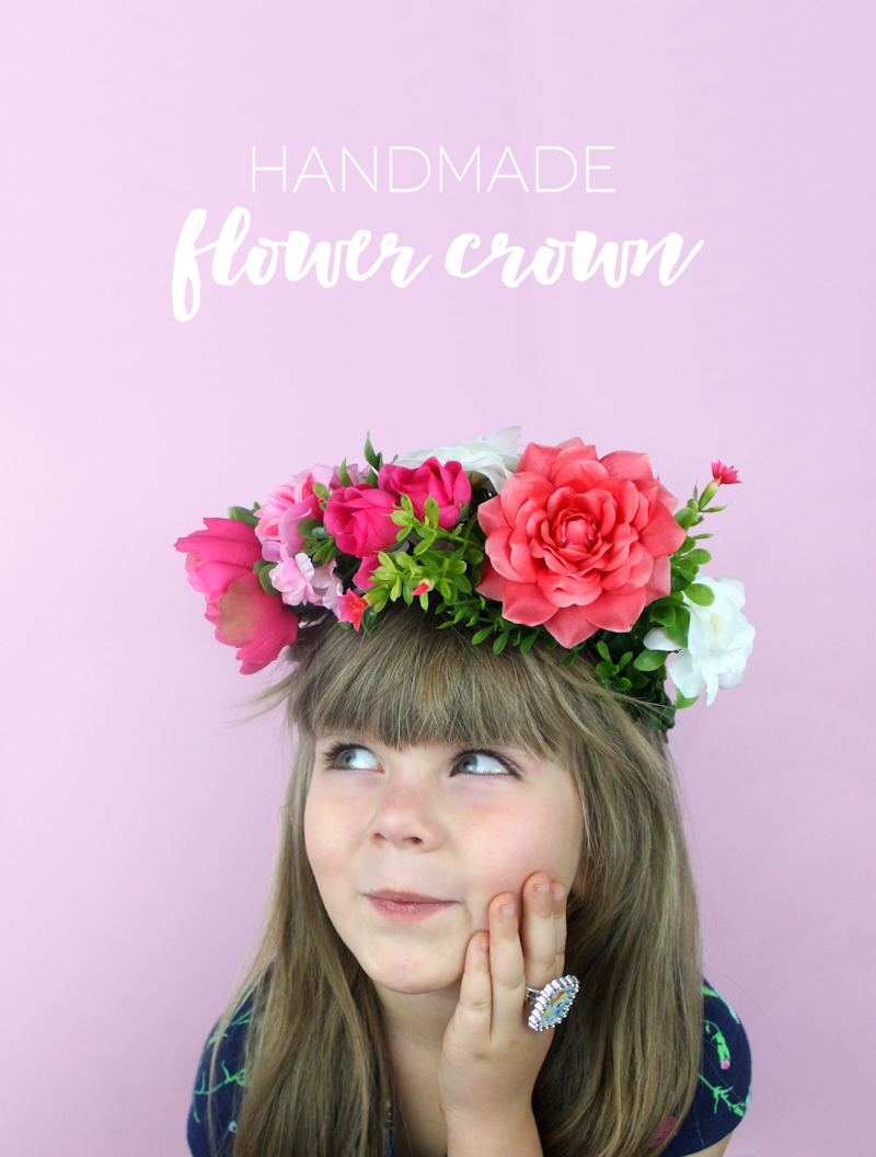 Adorable Diy Handmade Flower Crown By Michaelsmakers Lines Across