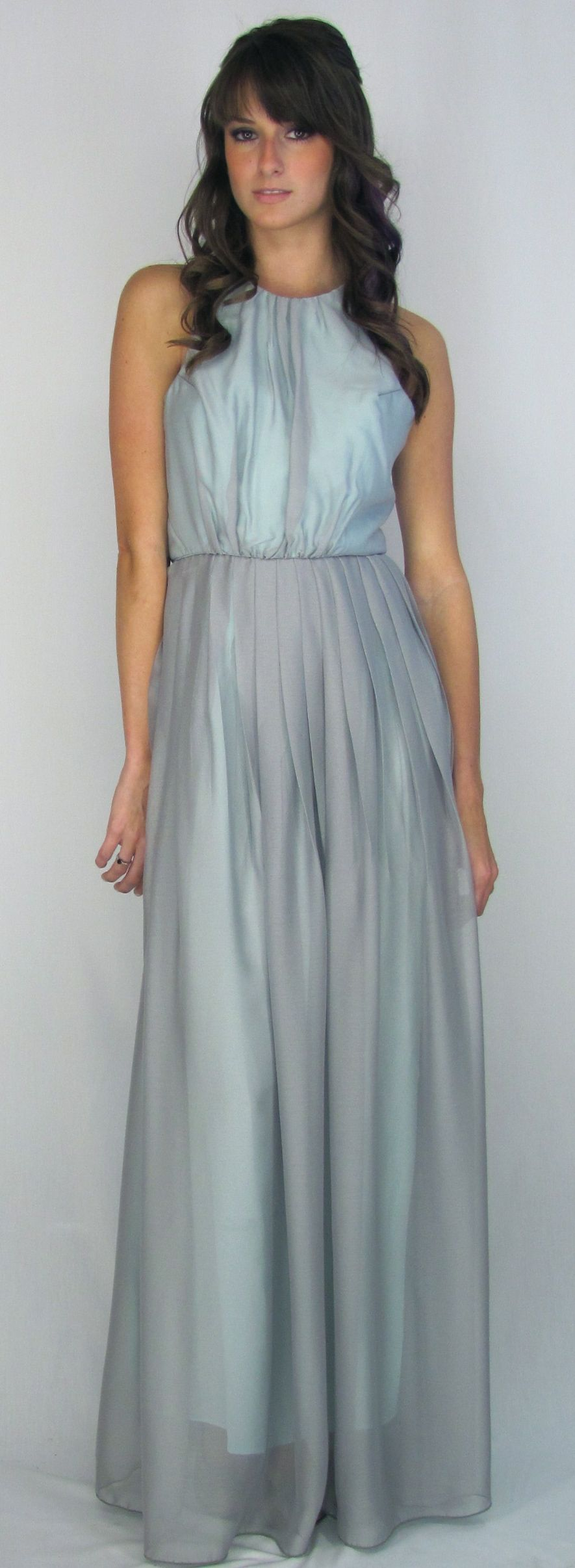 The octavia dress grey chiffon over mint silk someday the octavia dress bridesmaid gown grey silk chiffon layered over mint silk crepe de chine cross detail in back made in america ombrellifo Image collections