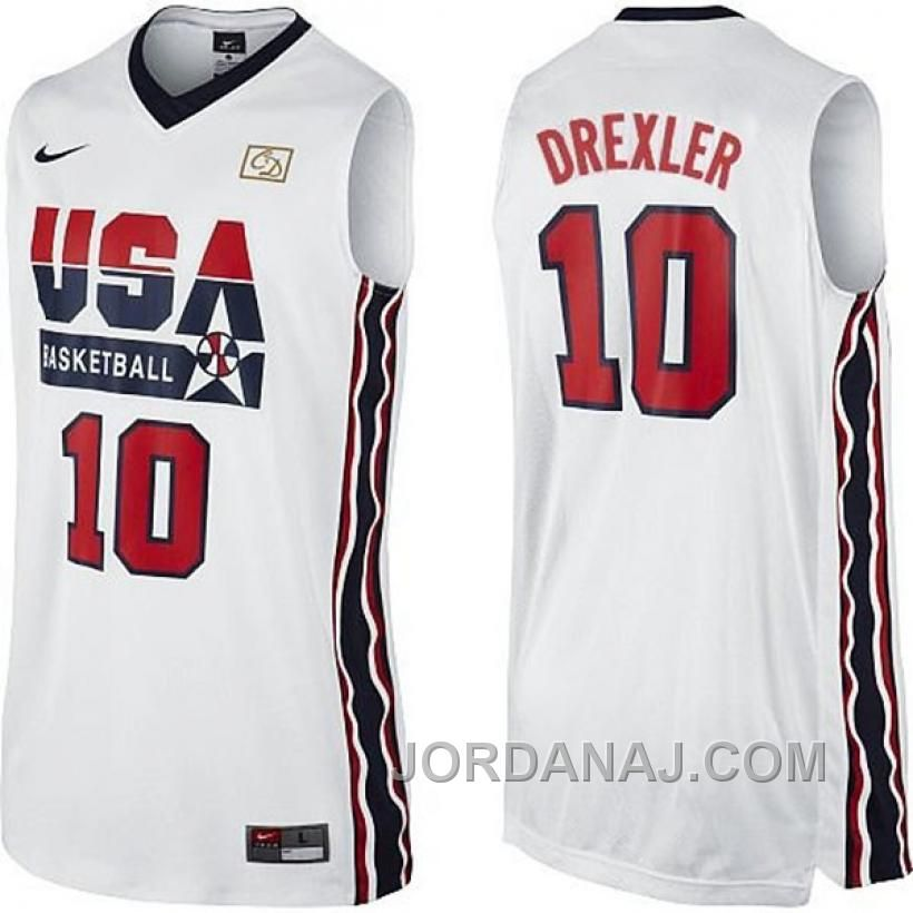 4452f29b509 Clyde Drexler Dream Team Home Jersey Usa Dream Team