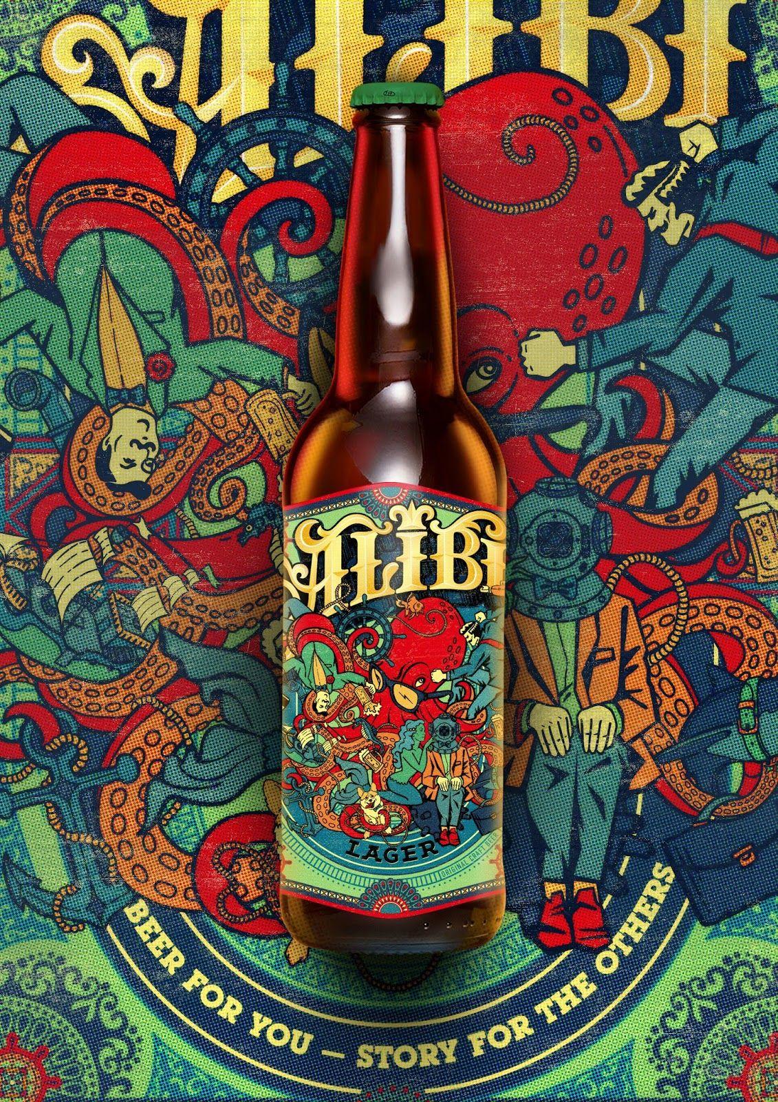 Alibi On Packaging Of The World Creative Package Design Gallery Beer Bottle Design Craft Beer Design Craft Beer Packaging